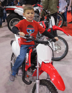 AJ at the Motorcycle Show
